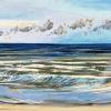 Noordzee bij De Koog (15 VI 2021) pastel op papier, 24 x 32 cm (lijst 30 x 40 cm)