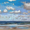 Noordzee bij De Koog (17 VII 2021) pastel op papier, 24 x 32 cm (lijst 30 x 40 cm)