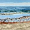 Noordzee bij De Koog (20 VII 2021) pastel op papier, 24 x 32 cm (lijst 30 x 40 cm)