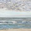 Noordzee bij De Koog (21 VII 2021) pastel op papier, 24 x 32 cm (lijst 30 x 40 cm)