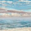 Noordzee bij De Koog (26 VII 2021) pastel op papier, 24 x 32 cm (lijst 30 x 40 cm)