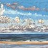 Noordzee bij De Koog (04 VIII 2021) pastel op papier, 24 x 32 cm (lijst 30 x 40 cm)