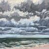 Noordzee bij De Koog (13 VIII 2021) pastel op papier, 24 x 32 cm (lijst 30 x 40 cm)
