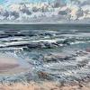 Noordzee bij De Koog (18 VIII 2021) pastel op papier, 24 x 32 cm (lijst 30 x 40 cm)