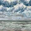 Noordzee bij De Koog (29 VIII 2021) pastel op papier, 24 x 32 cm