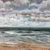 Noordzee bij De Koog (31 VIII 2021) pastel op papier, 24 x 32 cm