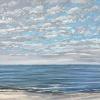 Noordzee bij De Koog (07 IX 2021) pastel op papier, 24 x 32 cm