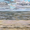 Strand bij De Koog (12 VII 2019) pastel op papier, 32 x 49 cm (lijst 44 x 61 cm)