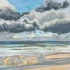 Lucht bij De Koog (15 VII 2019) pastel op papier, 32 x 49 cm (lijst 44 x 61 cm)