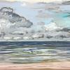 Wolken bij De Koog (15 VII 2019) pastel op papier, 32 x 49 cm (lijst 44 x 61 cm)