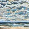 Noordzee (17 VII 2020) pastel op papier, 32 x 49 cm (lijst 44 x 61 cm)