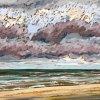 Noordzee (25 VII 2020) pastel op papier, 32 x 49 cm (lijst 44 x 61 cm)