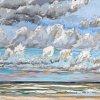 Noordzee (29 VII 2020) pastel op papier, 32 x 49 cm (lijst 44 x 61 cm)