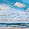 Noordzee (04 VIII 2020) pastel op papier, 32 x 49 cm (lijst 44 x 61 cm)