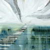 Maurice Christo van Meijel: Polderlandschap, V-2010, inkt en potlood op papier, 42 x 59 cm.