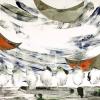 Maurice Christo van Meijel: zonder titel (serie Zwaar weer), 18-VIII-2003, olieverf en kleurpotlood op papier 49 x 41 cm.