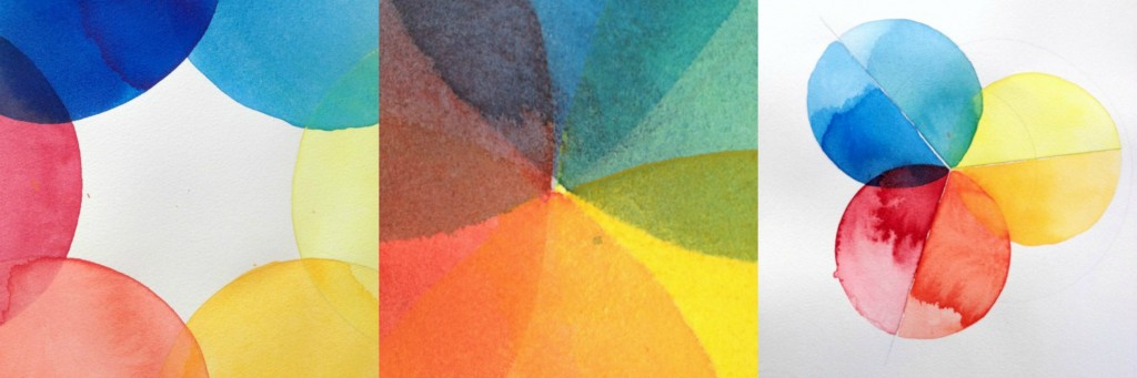 aqua kleurencirkel collage